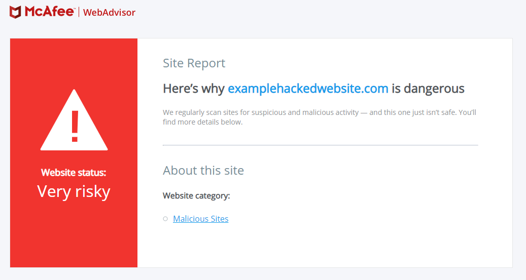 McAfee SiteAdvisor Blacklist